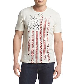 Ruff Hewn Men's Short Sleeve Distressed Flag Tee