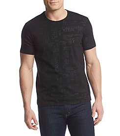 Calvin Klein Jeans Men's Allover Logo Short Sleeve Crew Tee