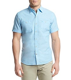 Izod® Men's Solid Saltwater  Chambray Button Down Shirt