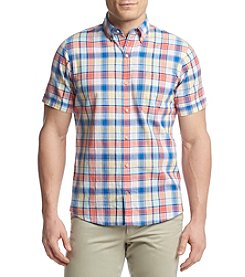 Izod® Men's Checker Saltwater Button Down Shirt