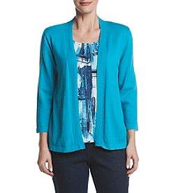 Alfred Dunner® Brush Stroke Inner Layered Look Sweater