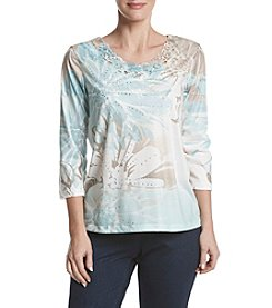 Alfred Dunner® Petites' Exploded Florals Knit Top