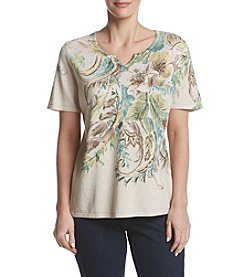 Alfred Dunner® Petites' Floral Print Sweater