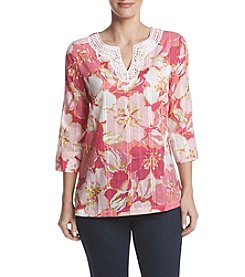 Alfred Dunner® Floral Print Tunic Top
