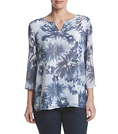 Alfred Dunner® Floral Woven Top