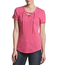 Ruff Hewn Lace Up Top