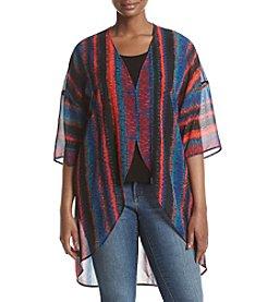 Ruff Hewn GREY Plus Size Printed Kimono