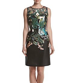 Adrianna Papell® Tropical Scuba Dress