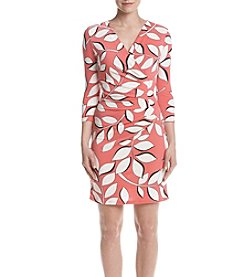 Adrianna Papell® Leaf Wrap Dress