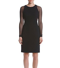 Vera Wang® Sheer Illusion Dress