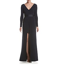 Vera Wang® Long Matte Jersey Dress