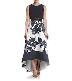 Betsy & Adam® Floral High Low Dress