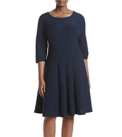 Gabby Skye® Plus Size Textured Fit And Flare Dress