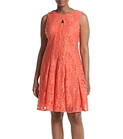 Gabby Skye® Plus Size Lace Fit And Flare Dress