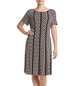 Connected® Plus Size Trapeze Dress