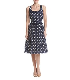 Ronni Nicole® Dot Party Fit And Flare Dress
