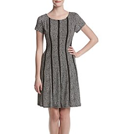 Connected® Seamed Fit And Flare Dress