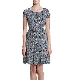 Connected® Printed Fit And Flare Dress