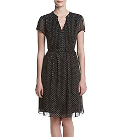 Prelude® Pleated Dot Dress