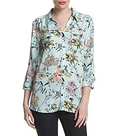 Relativity® Floral Garden Utility Shirt