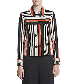 Jones New York® Striped Dobby Textured Jacket