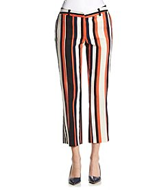 Jones New York® Striped Dobby Textured Ankle Pants