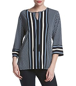 Jones New York® Diamond Stripe Tunic