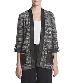 Jones New York® Open Front Roll Sleeve Cardigan