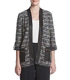 Jones New York® Open Front Roll Sleeve Cardigan