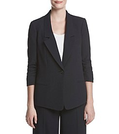Jones New York® Herringbone Jacquard Boyfriend Blazer
