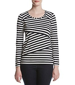 Jones New York® Stripe Knit Top