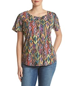 Relativity® Plus Size Boho Tee