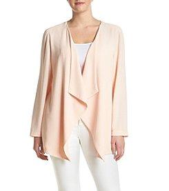 Relativity® Plus Size Lace Back Cardigan