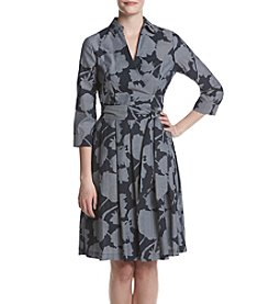 Ivanka Trump® Floral Shadow Wrap Dress