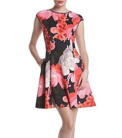 Vince Camuto® Floral Scuba Dress