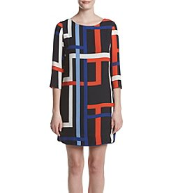 Vince Camuto® Geo Chiffon Shift Dress