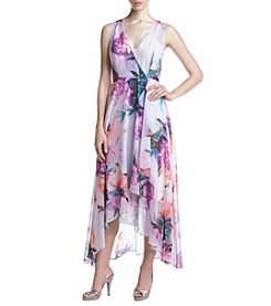 Calvin Klein Floral High-Low Dress