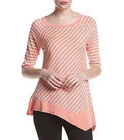 Calvin Klein Performance Striped Tunic Knit Top