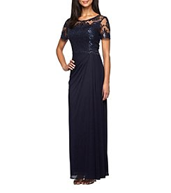 Alex Evenings® Plus Size Long Side Ruched Dress