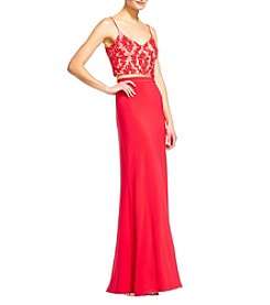 Adrianna Papell® Beaded Top Long Gown