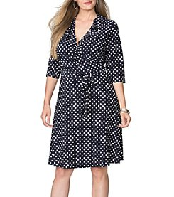 Chaps® Plus Size Aceline Wrap Dress