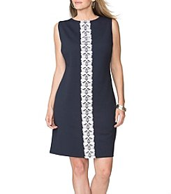Chaps® Plus Size Miller Trim Sheath Dress