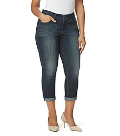 Vintage America Blues™ Plus Size Boho Denim Crop Jeans