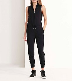 Lauren Active® French Terry Mockneck Jumpsuit