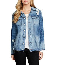 Jessica Simpson Embroidered Denim Jacket