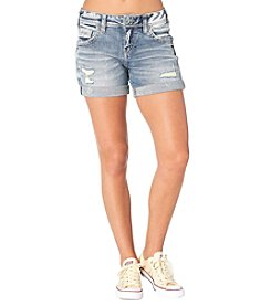 Silver Jeans Co. Boyfriend Roll Cuff Shorts