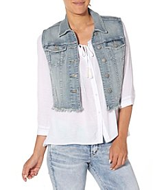 Silver Jeans Co. Fray Hem Denim Vest