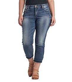 Silver Jeans Co. Plus Size Release Hem Skinny Crop Jeans