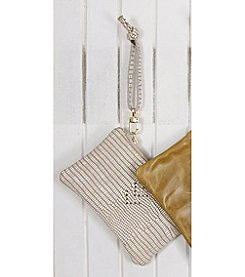 Permanent Baggage Chevron Leather Wristlet