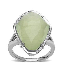 Sterling Silver Prynite Ring With 0.08 ct. Diamond Accent